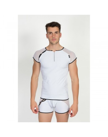 T-Shirt Mixing 2 Blanc - LM43-77WHT