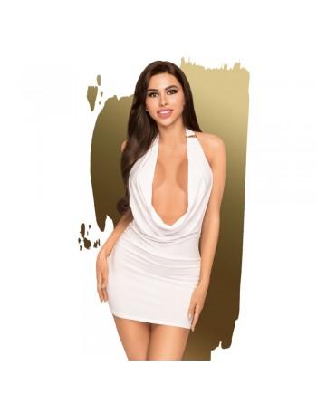 Robe décolletée et string assorti Blanc Heart rob - PH0061WHT