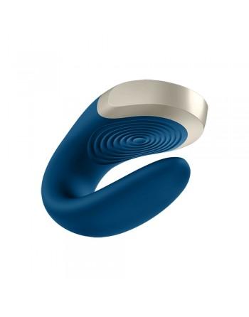 Vibromasseur connecté pour couple avec télécommande Double Love bleu Satisfyer - CC597446