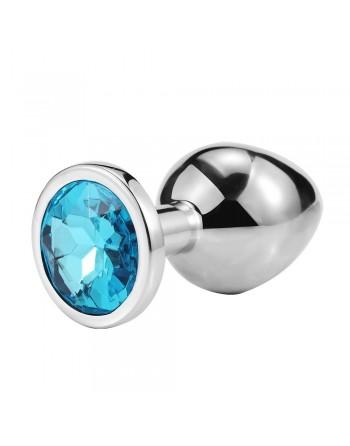 Plug bijou en aluminium bijou bleu Large - RY-003LBL